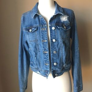 Adorable Cropped Distressed Mossimo Denim Jacket